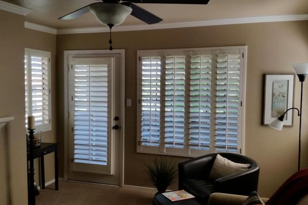Plantation shutters throughout. Spacious private balcony off living room.