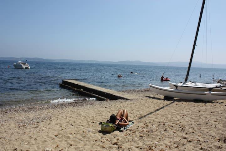 plage à 60 mètres