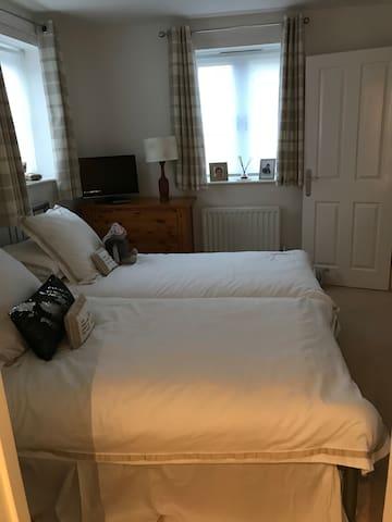 Room with ensuite for Cheltenham Festival.