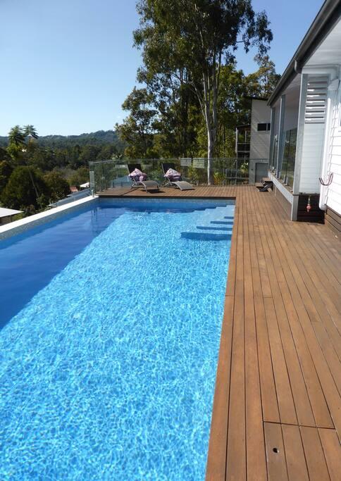 Huge solar heated pool 4.5mx11m