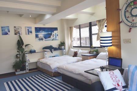 台北101旁,捷運出口3mins地中海4-5人公寓