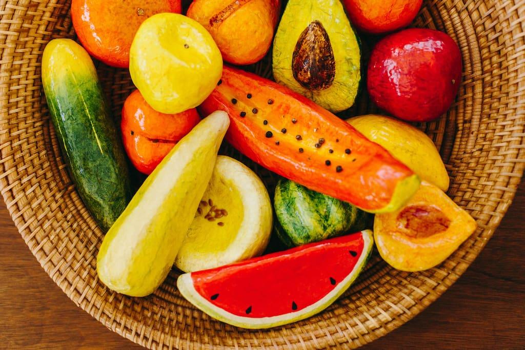 Handmade fruit, yum!
