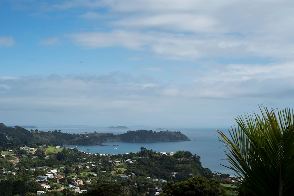 view from your deck towards onetangi beach