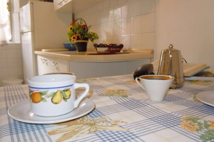 Large, cozy flat 2min from the sea - Procchio