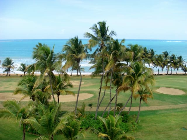 East View From Private Terrace Over Ocean Golf Course & Caribbean