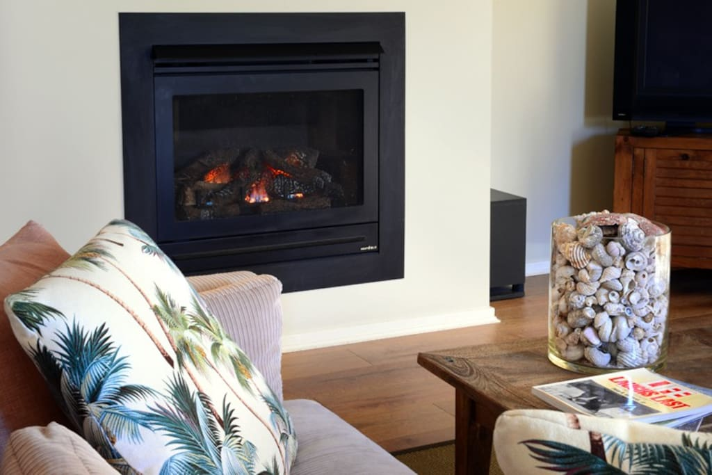 Snuggle up in front of a fire in winter