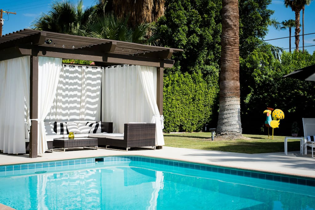 Cabana by the pool.
