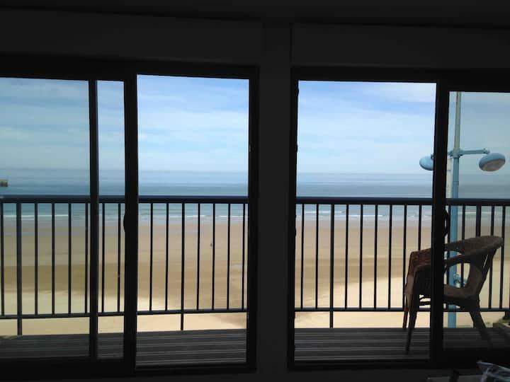Duplex face mer, balcon, 2 chbres, 4/5 pers, wifi