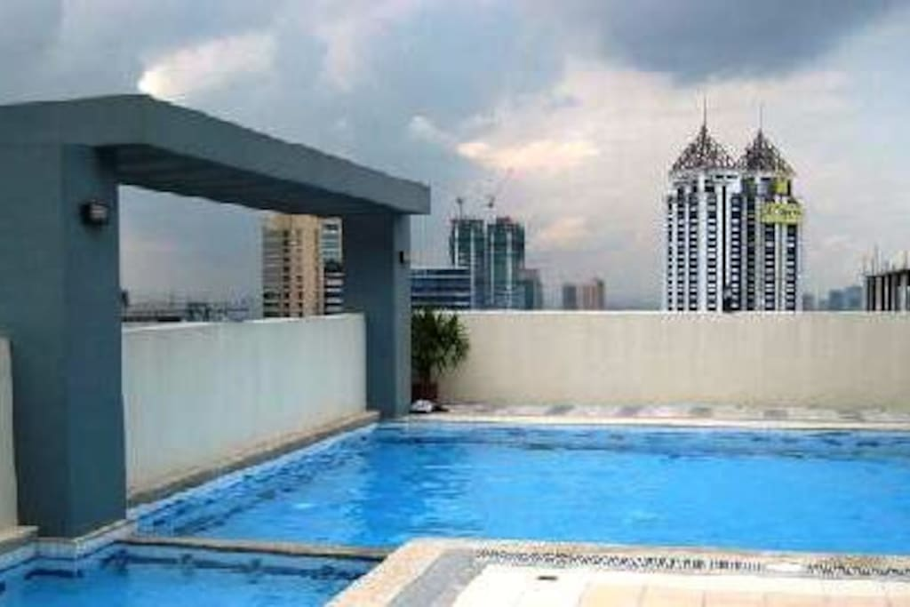Swimming pool on the rooftop