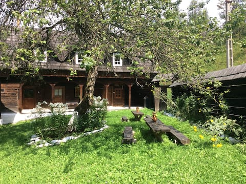 Old Farmhouse in the Carpathian Mountains