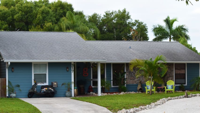 A front view of our coastal bungalow