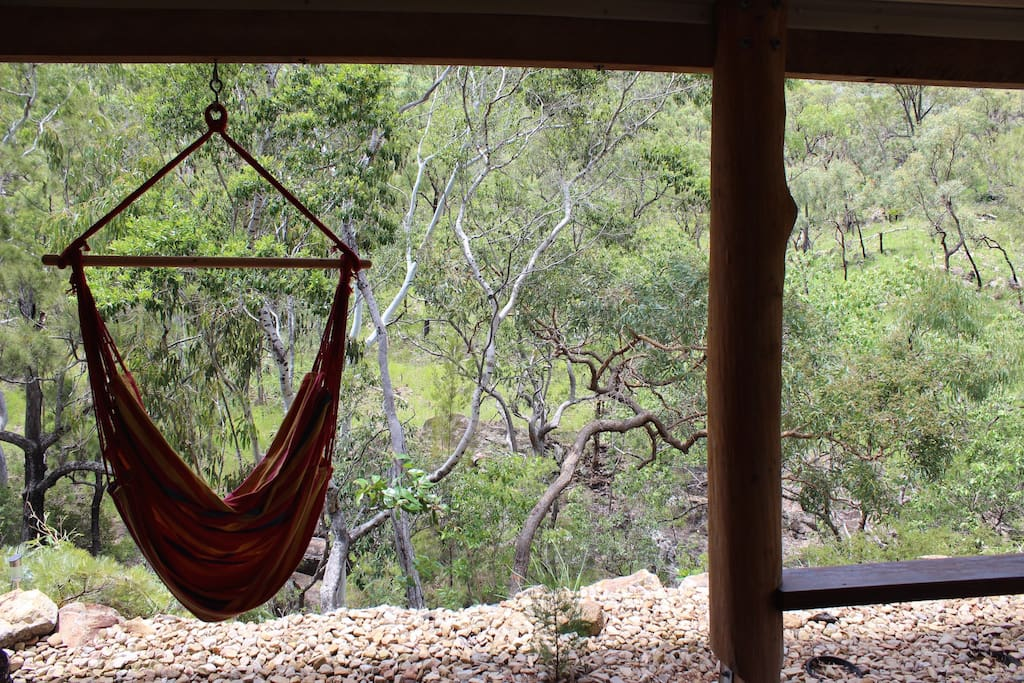 Chill out in the seated hammock