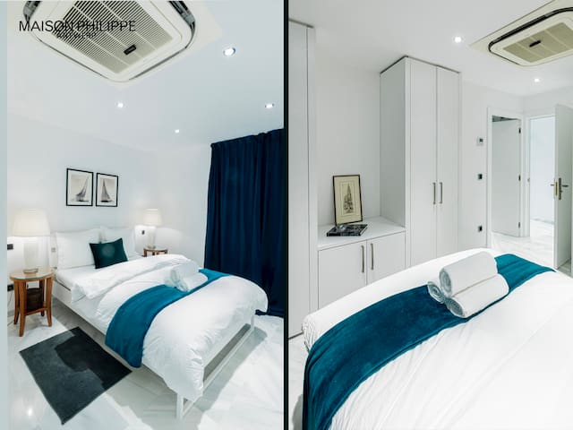 Bedroom 1 with ample of closet space and its own ensuite bathroom