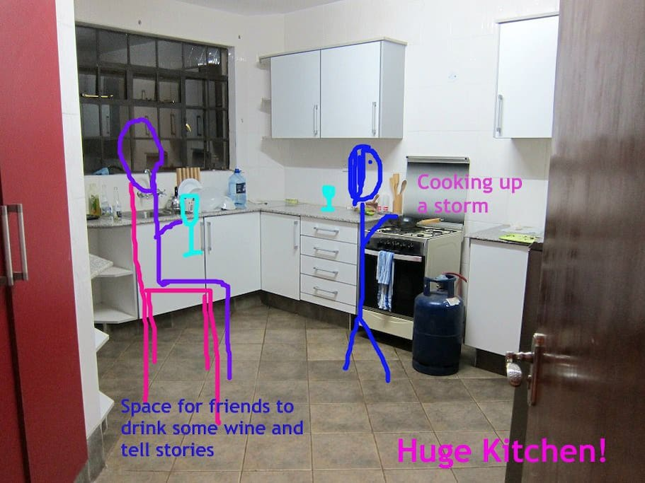 Big well equipped kitchen