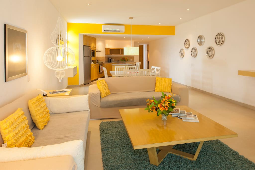 Bright open-plan space