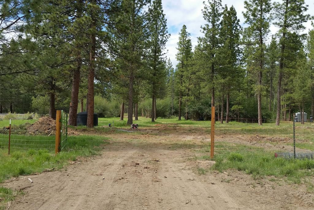 Road into Horsey Campgrounds