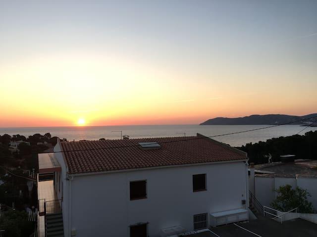 Vue au levé du soleil