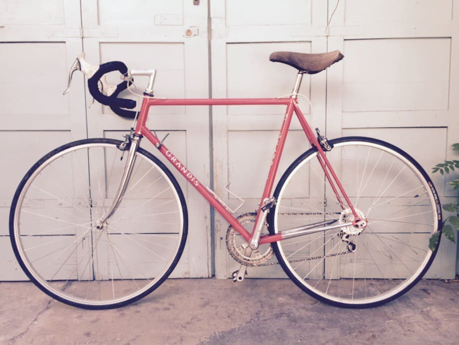 One of the bikes, Grandis' frame, steel, 90s