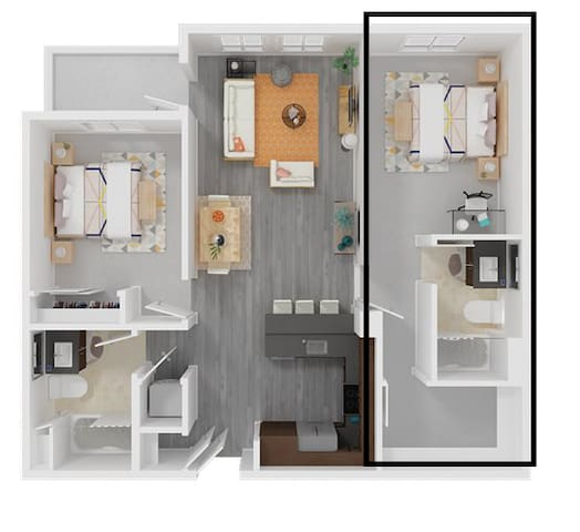 Sub-leasing private room for 6mths (July-Dec 2020)