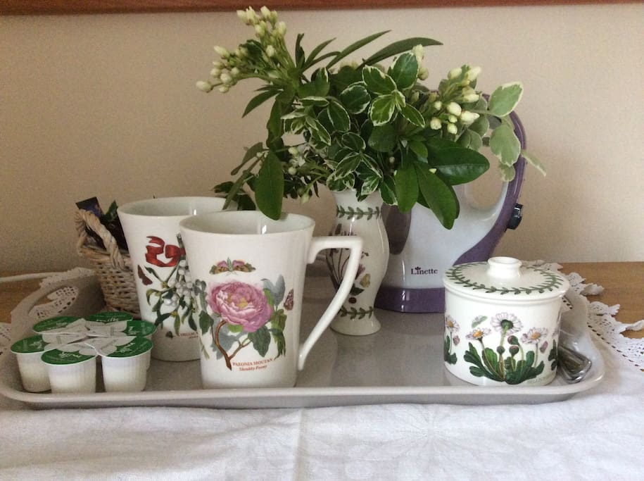 Tea and coffee making facilities.