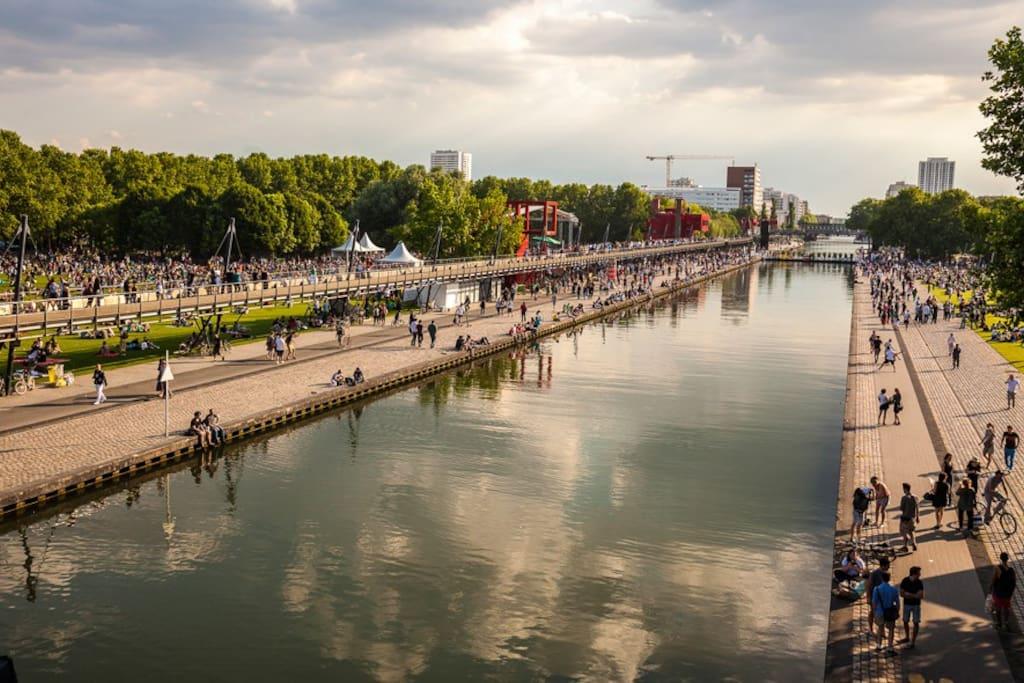 le canal jusqu'à la Villette
