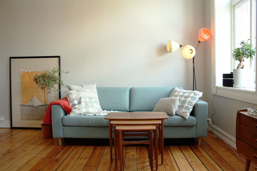 The couch in the living room can be folded out to a double bed if you need extra sleeping space.