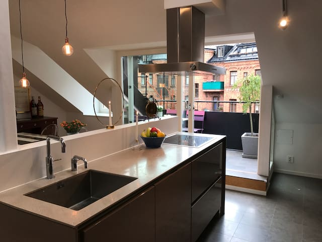 Newly built penthouse in Östermalm's top spot