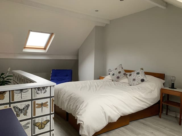 Bright spacious attic in antiques quarter
