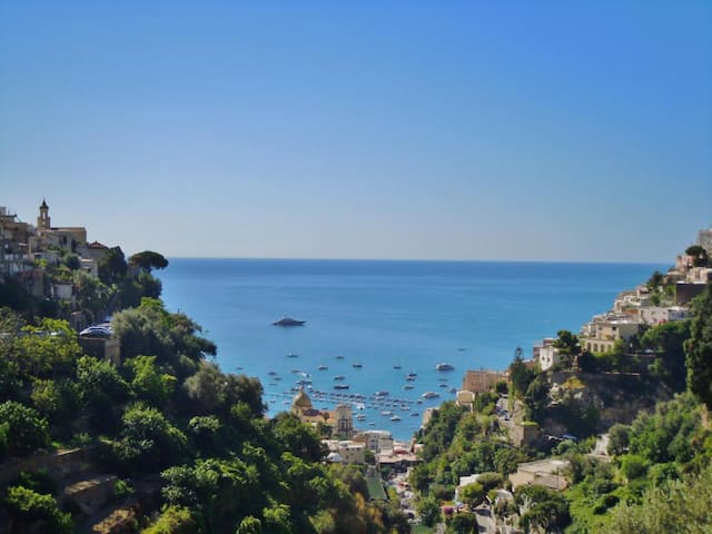 Bright 2 Rooms with balcony sea view - Positano - Bed & Breakfast