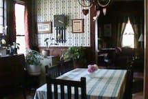 The dining room where you will be served breakfast