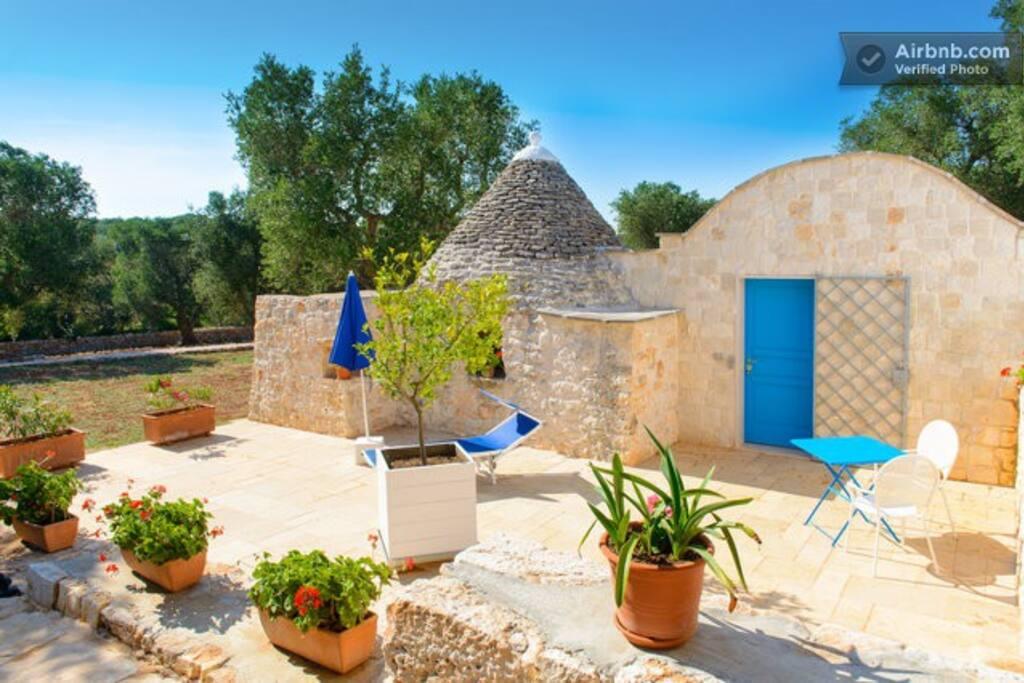 The trullo from its own private terrazza.