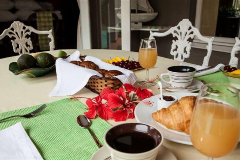 Breakfast is served !