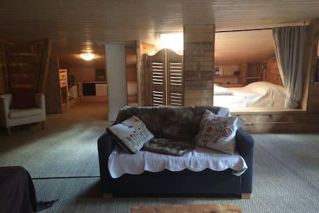 Chambre spacieuse et agréable - Aime - 独立屋