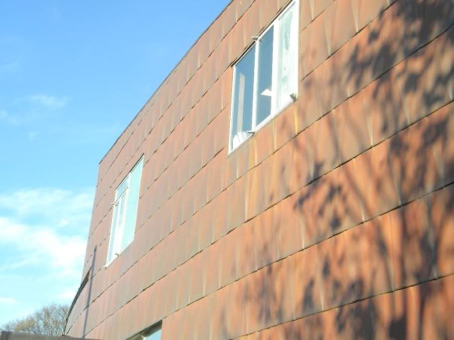 copper sheathing of house