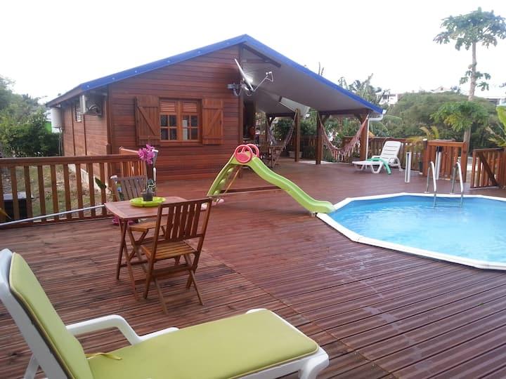 Gite & piscine privées plage: 200m