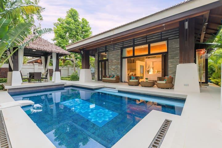 亚龙湾公主郡奢华东南亚浪漫风情泳池别墅