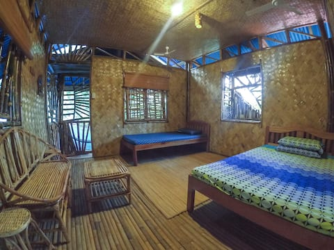 Cool Bamboo Room with Balcony