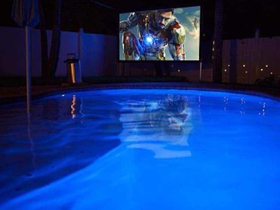 Watch your favorite movies right from the pool