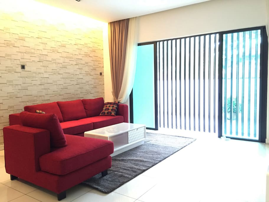 Comfy and stylish sofa to relax and watch some TV.