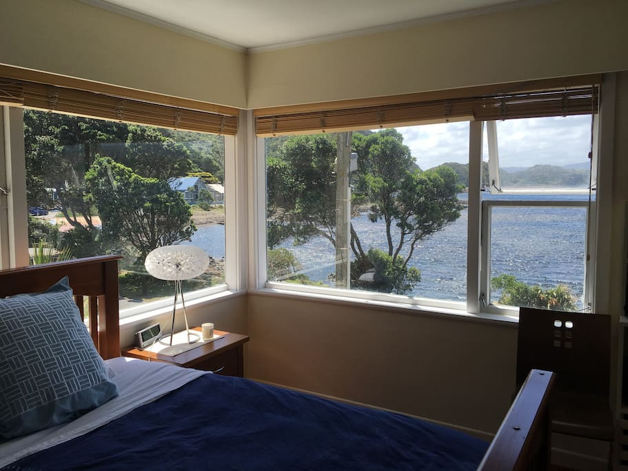 Captains lounge bedroom with the best views in the bay