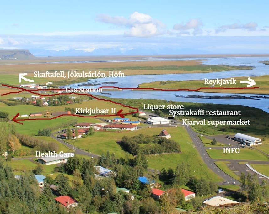 Kirkjubær II is in the village Kirkjubæjarklaustur