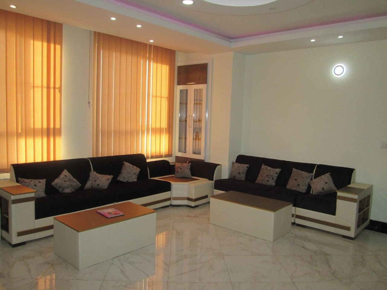 Living room furnished with couches