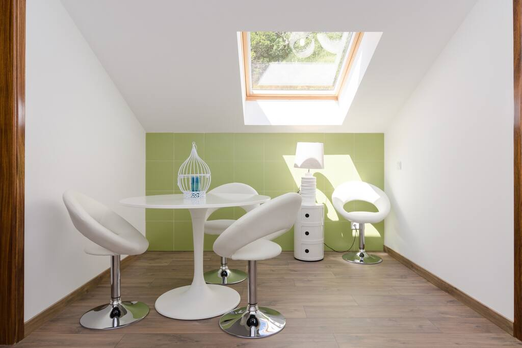 Sala de estar entre os Quartos Verde e Ocre