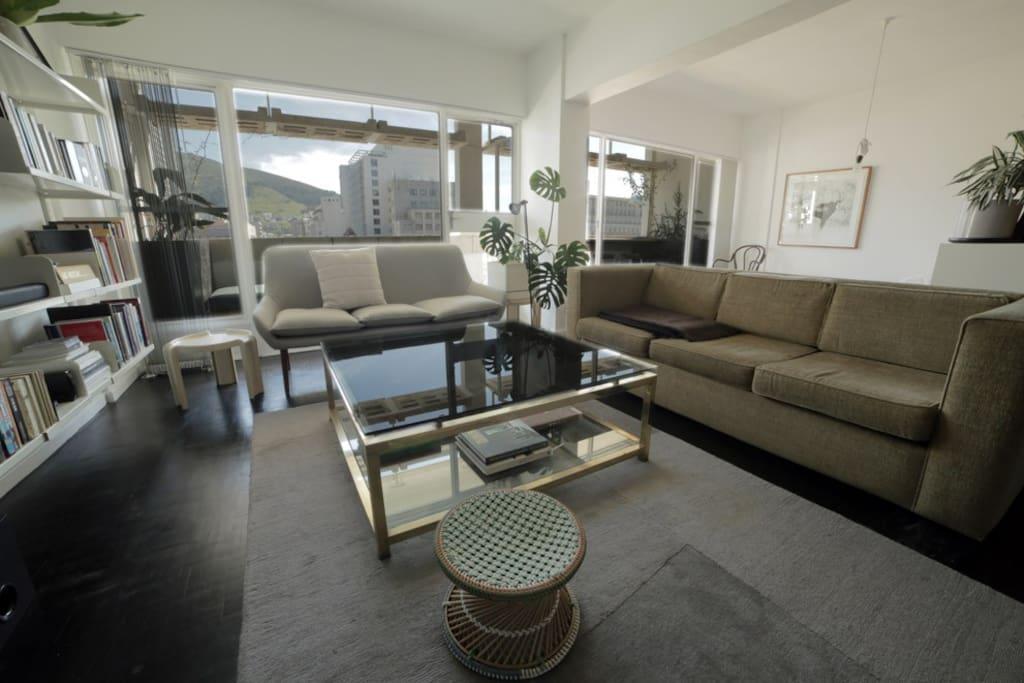 Lounge with sleeping area next door