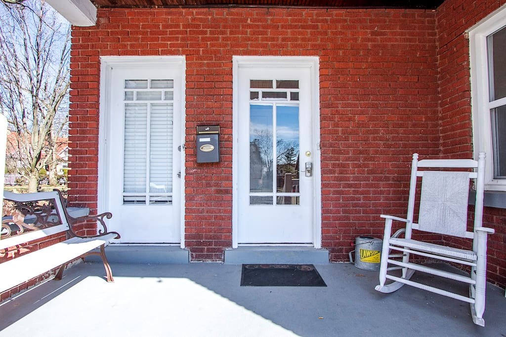 Private entry for guests and use of front porch
