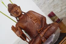 My peaceful wooden Buddha from Bali
