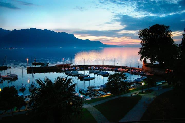 Studio au bord de l'eau!  entre Vevey et Montreux