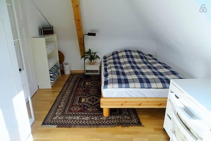 Das gemütliche Bett für 1 bis 2 Personen