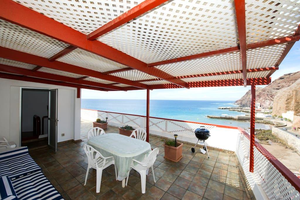 Casa en primera l nea de mar houses for rent in las - Casa del mar las palmas ...
