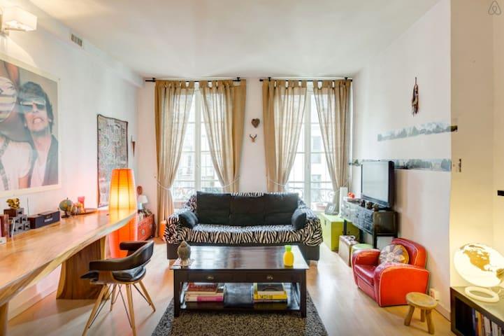 BIG PRIVAT ROOM/CENTRAL/NEAR LOUVRE - París - Departamento